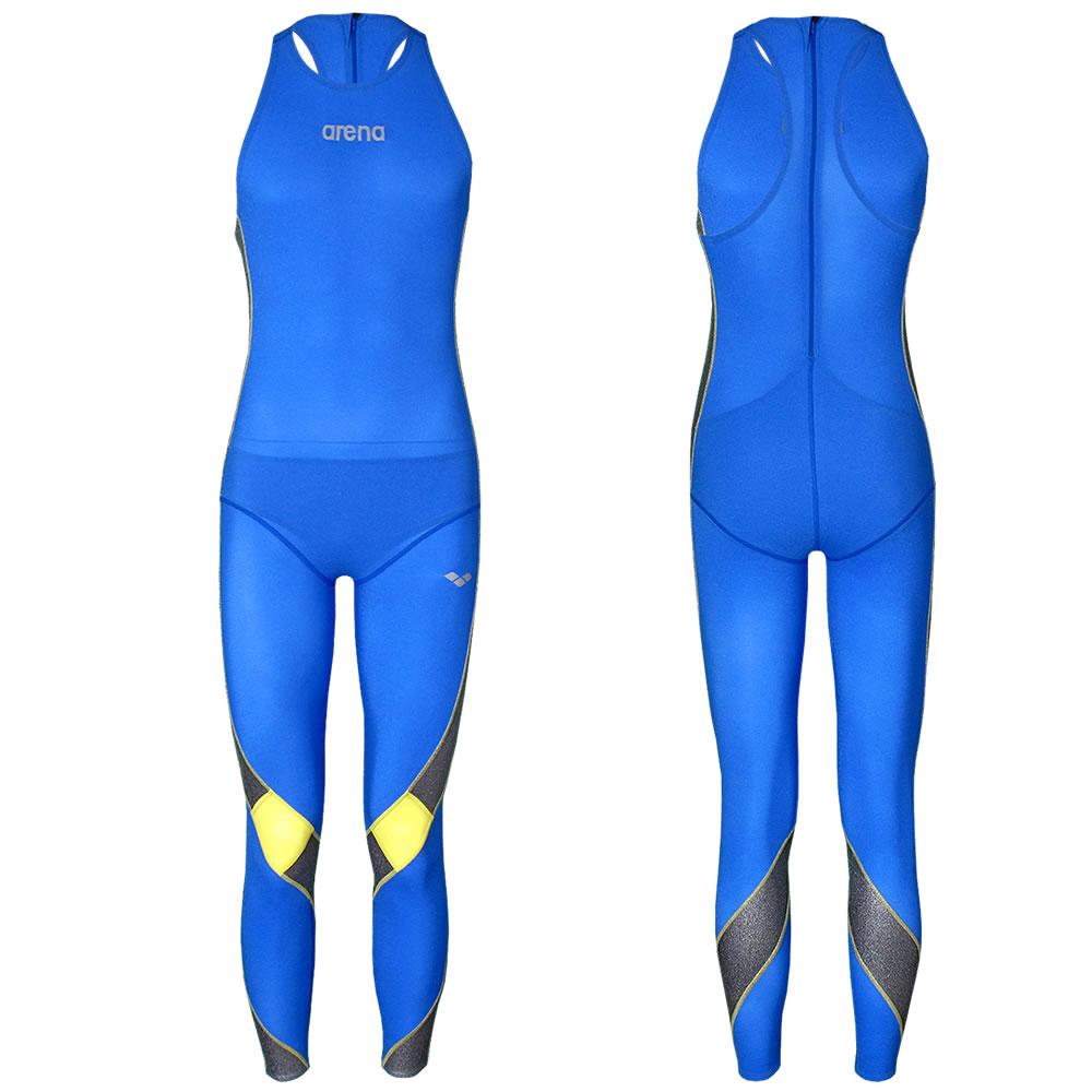 arena herren schwimmanzug powerskin anzug men full leg suit blau silber gelb ebay. Black Bedroom Furniture Sets. Home Design Ideas