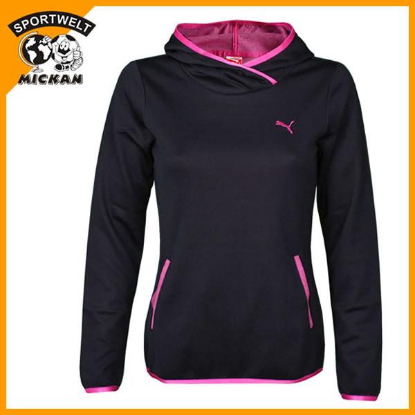 puma damen tech hoodie sweatshirt mit kapuze kapuzensweatshirt schwarz pink neu. Black Bedroom Furniture Sets. Home Design Ideas