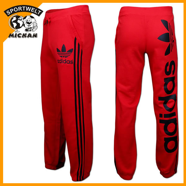 adidas linear trackpant trefoil trainingshose jogginghose sporthose xs xl rot ebay. Black Bedroom Furniture Sets. Home Design Ideas