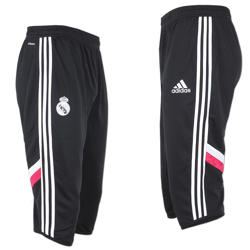 adidas 3 4 hose fu ballhose real madrid training pant adizero sporthose schwarz ebay. Black Bedroom Furniture Sets. Home Design Ideas