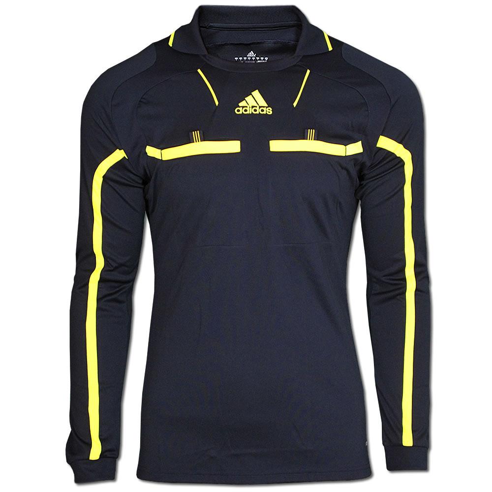 ADIDAS-Schiedsrichter-Trikot-Referee-S-XXL-schwarz-gelb-Langarm-REFEREE-JERSEY