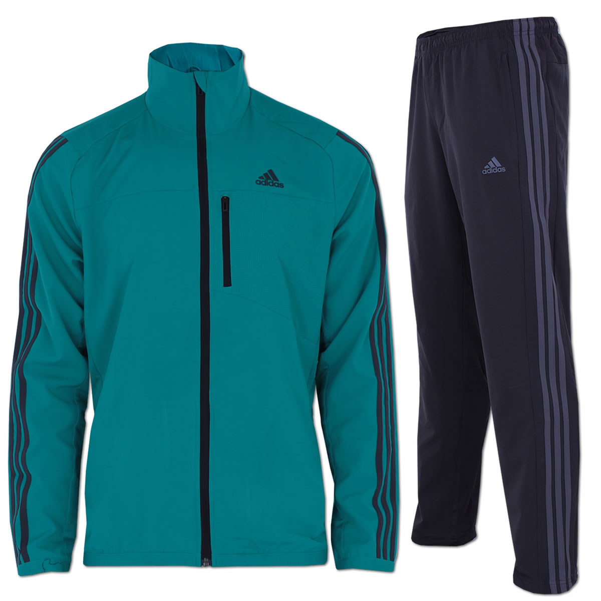 adidas Trainingsanzug 365 Woven OH 3 Streifen Suit blau