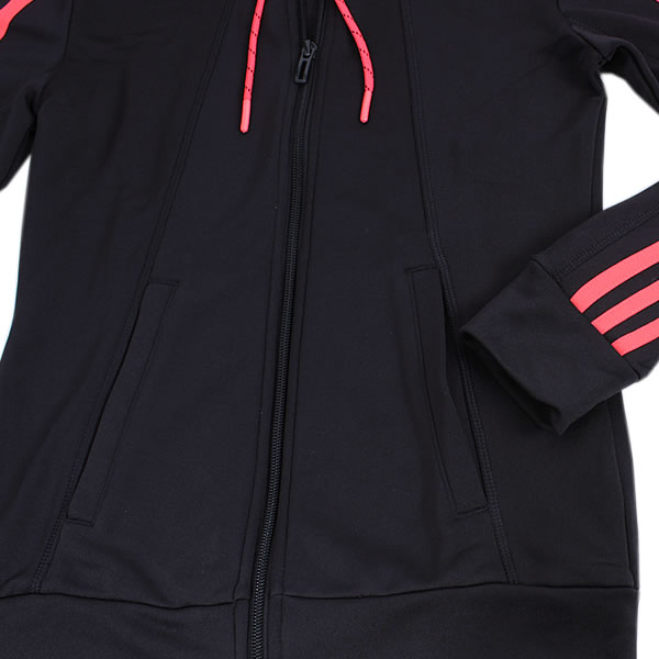 adidas Essentials 3 Stripes Suit black shock red (AJ5953)