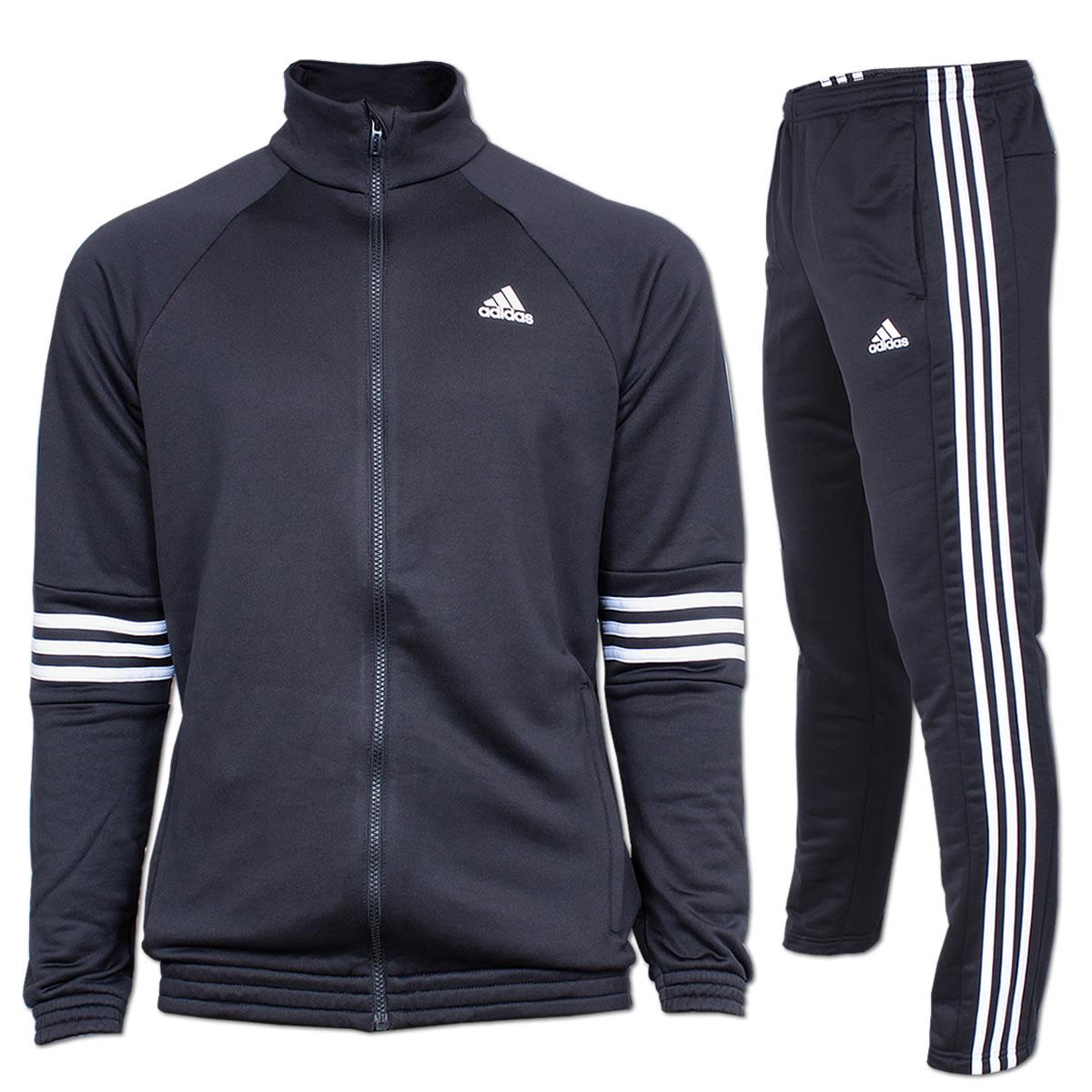adidas trainingsanzug ts knit schwarz wei aj6297. Black Bedroom Furniture Sets. Home Design Ideas
