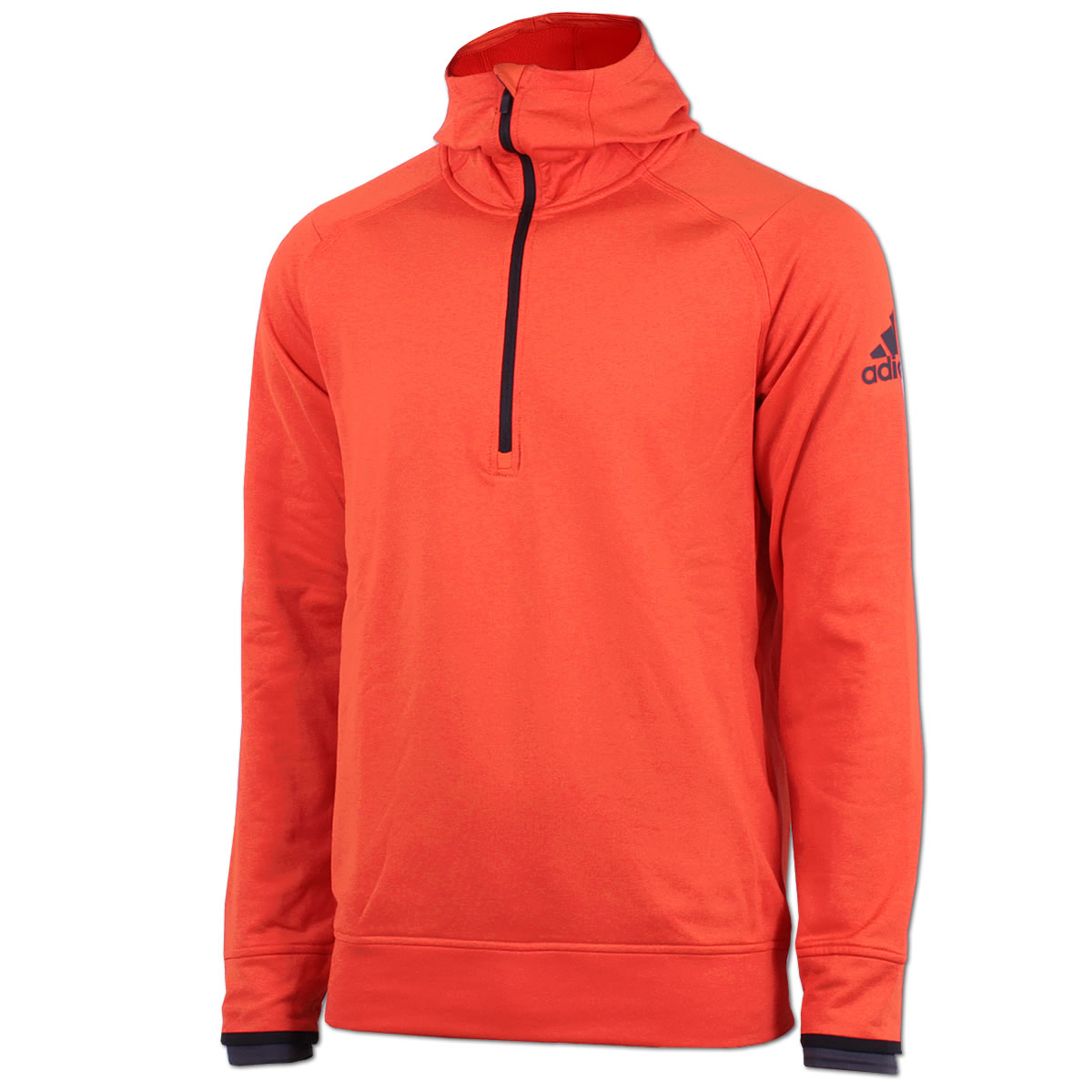 44ac59b27931 adidas Herren Kapuzensweat Climaheat Halfzip Hoody Polarfleece orange NEU