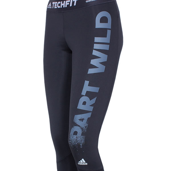 adidas Techfit Long Tight Motivational Slogan schwarz (B45117)