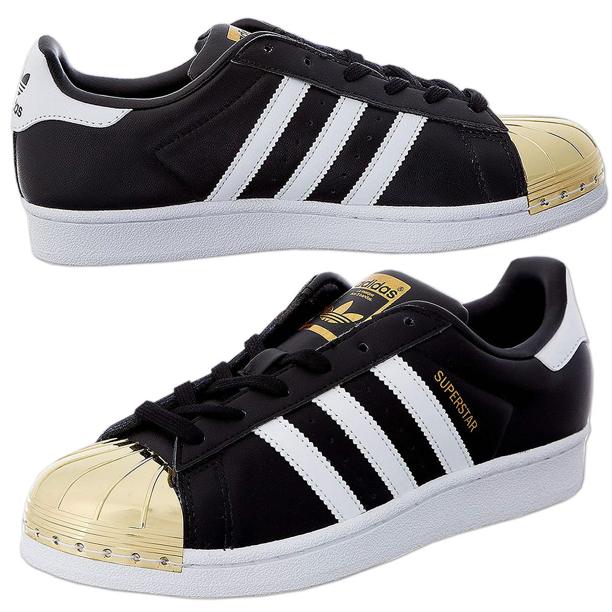 best service 94709 cf7d9 adidas Superstar Metal Toe Trainer Low schwarz-weiß-gold (BB5115)