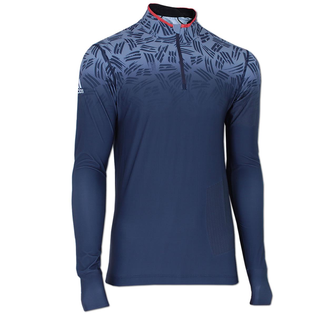 adidas Herren Response Longsleeve Zip Shirt Climalite