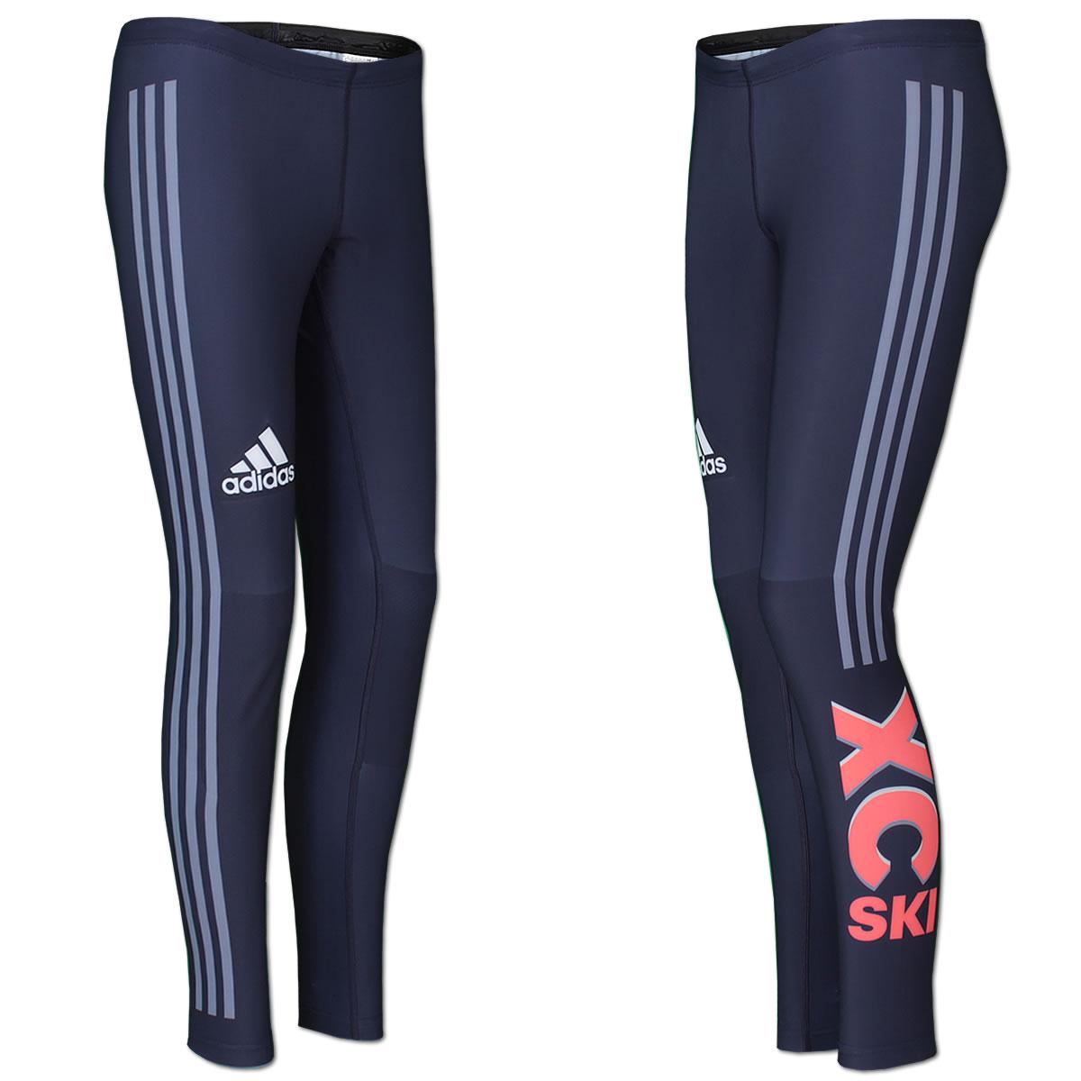 adidas Damen Race Tight 3 Streifen Laufhose Running Hose XC