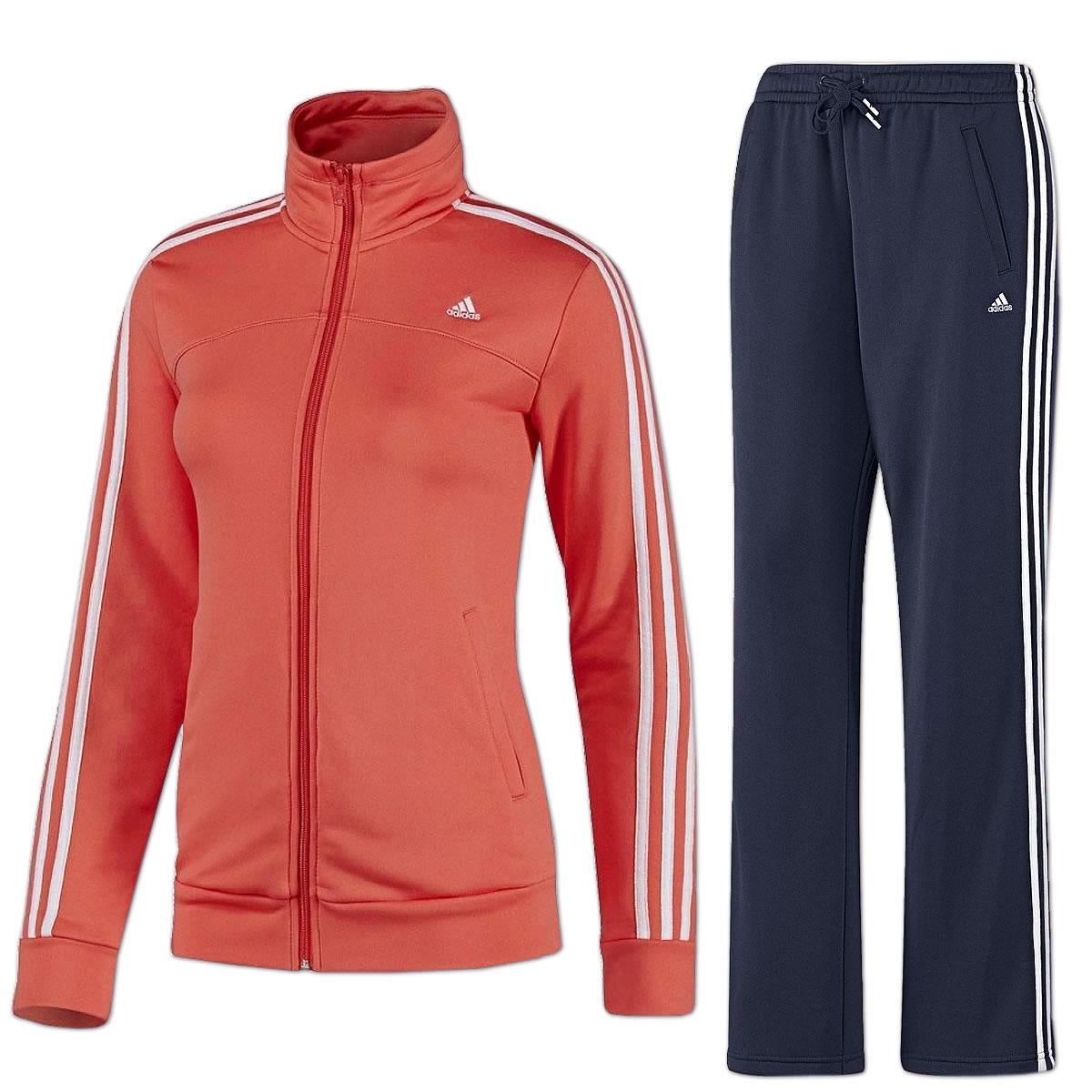 adidas Damen Trainingsanzug Essentials 3 Streifen Sportanzug