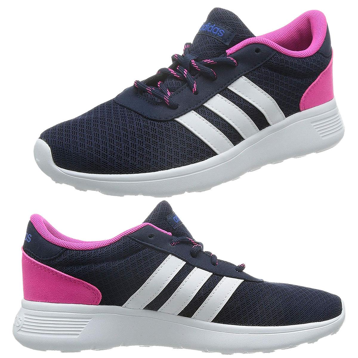 Details zu adidas Damen Schuhe Neo Sneaker Lite Racer Freizeit Sportschuhe  Mesh blau-pink