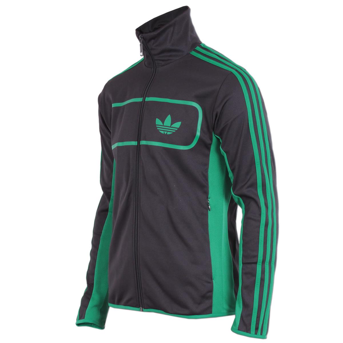 adidas jacke mit grünen streifen