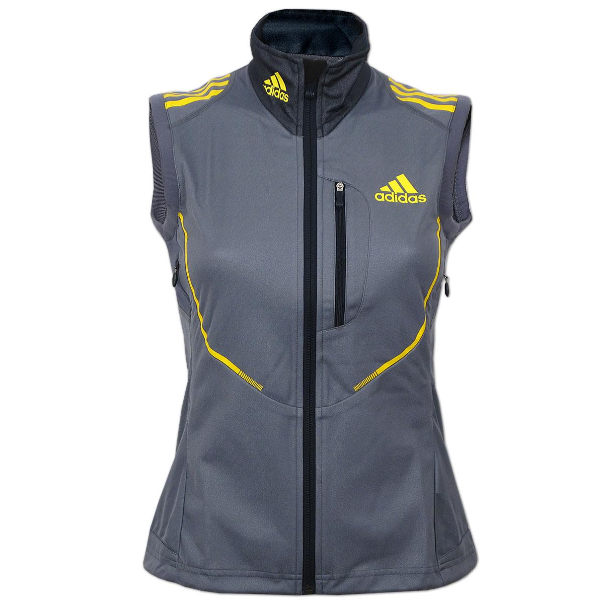 753339002d49 adidas Damen Athleten Weste Gore Windstopper Running Laufweste Langlauf  Sport