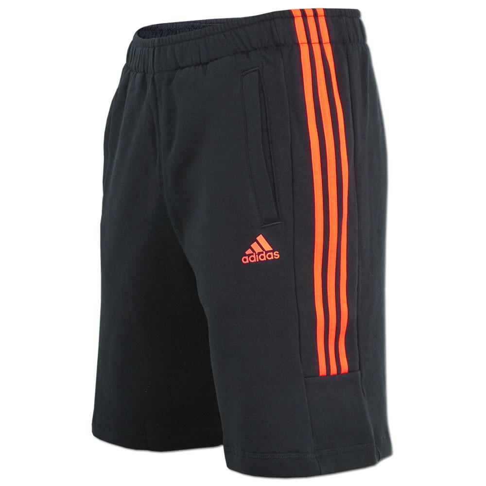 adidas shorts blau orange streifen