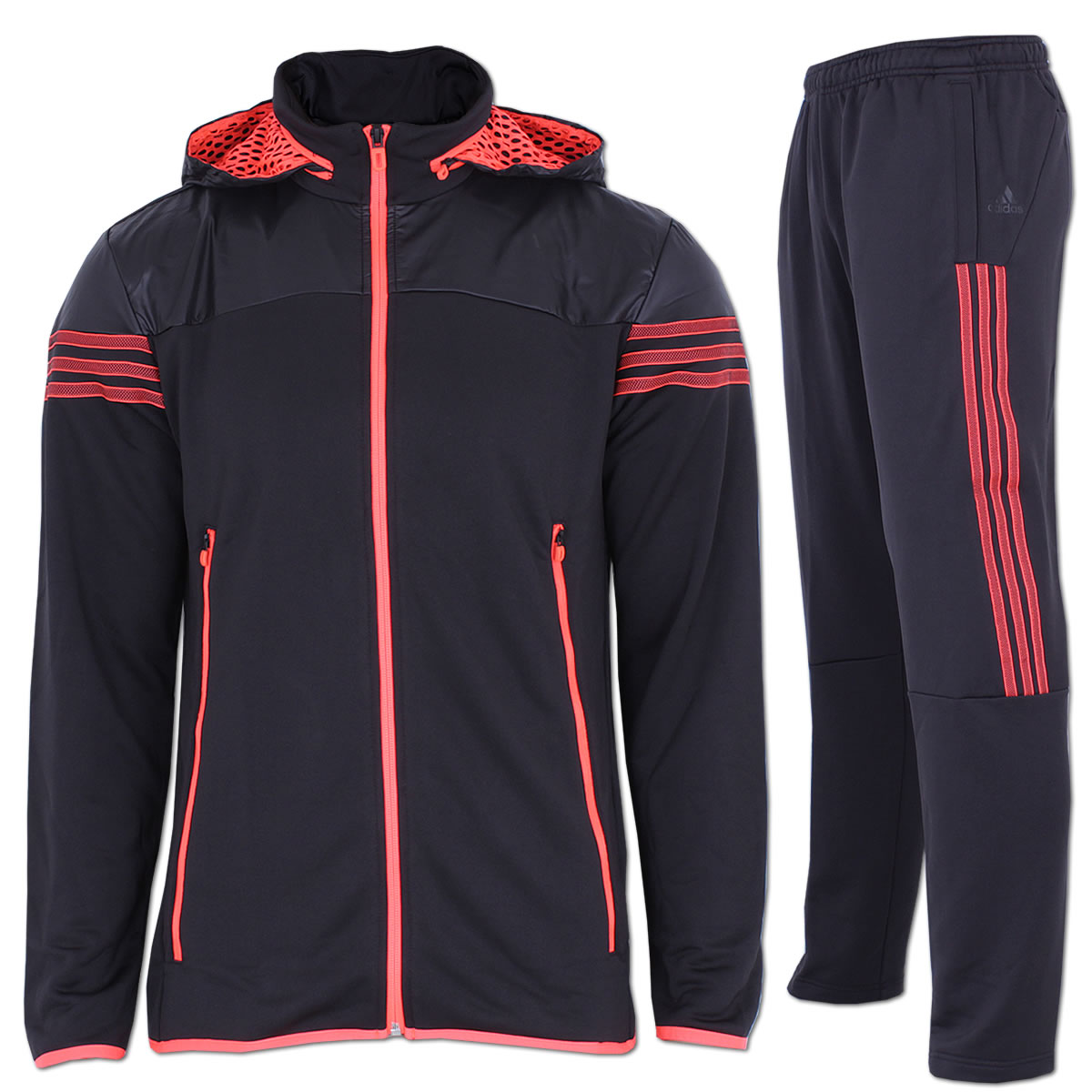 adidas Trainingsanzug TS Basic 3 Streifen Suit dark navy