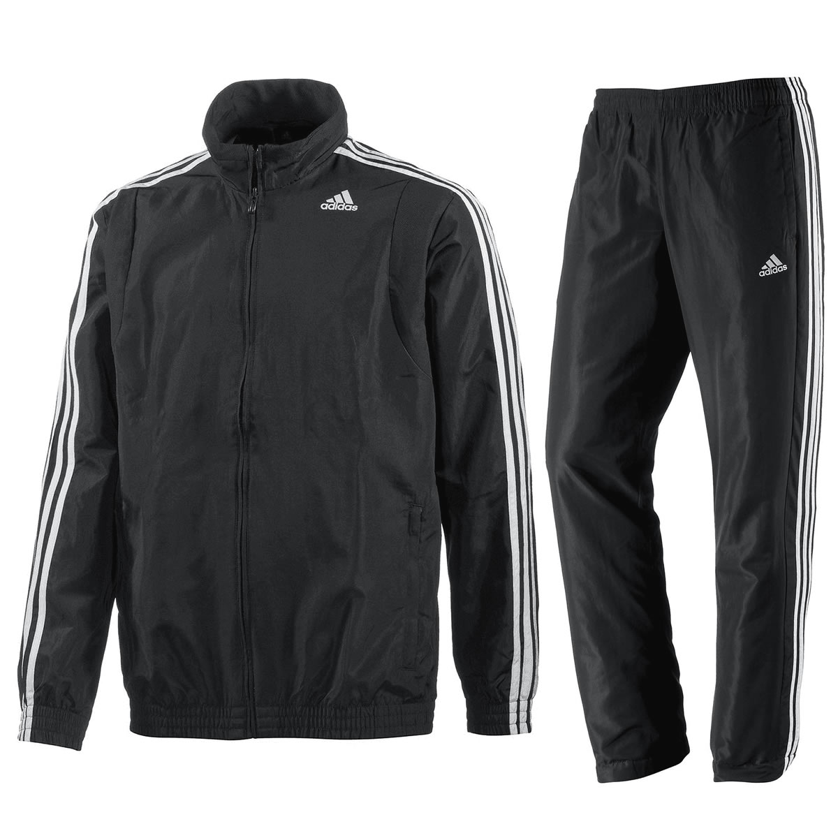 adidas Trainingsanzug TS Basic 3 Streifen Suit dark navy