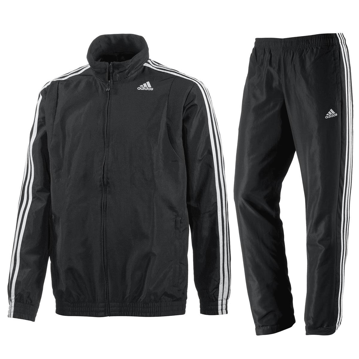 adidas Herren Trainingsanzug 3 Streifen Sportanzug