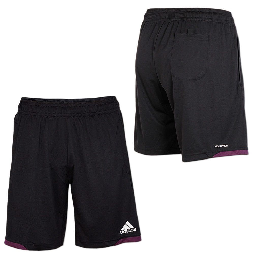 adidas Referee 12 Short Men schwarz lila (X10178)