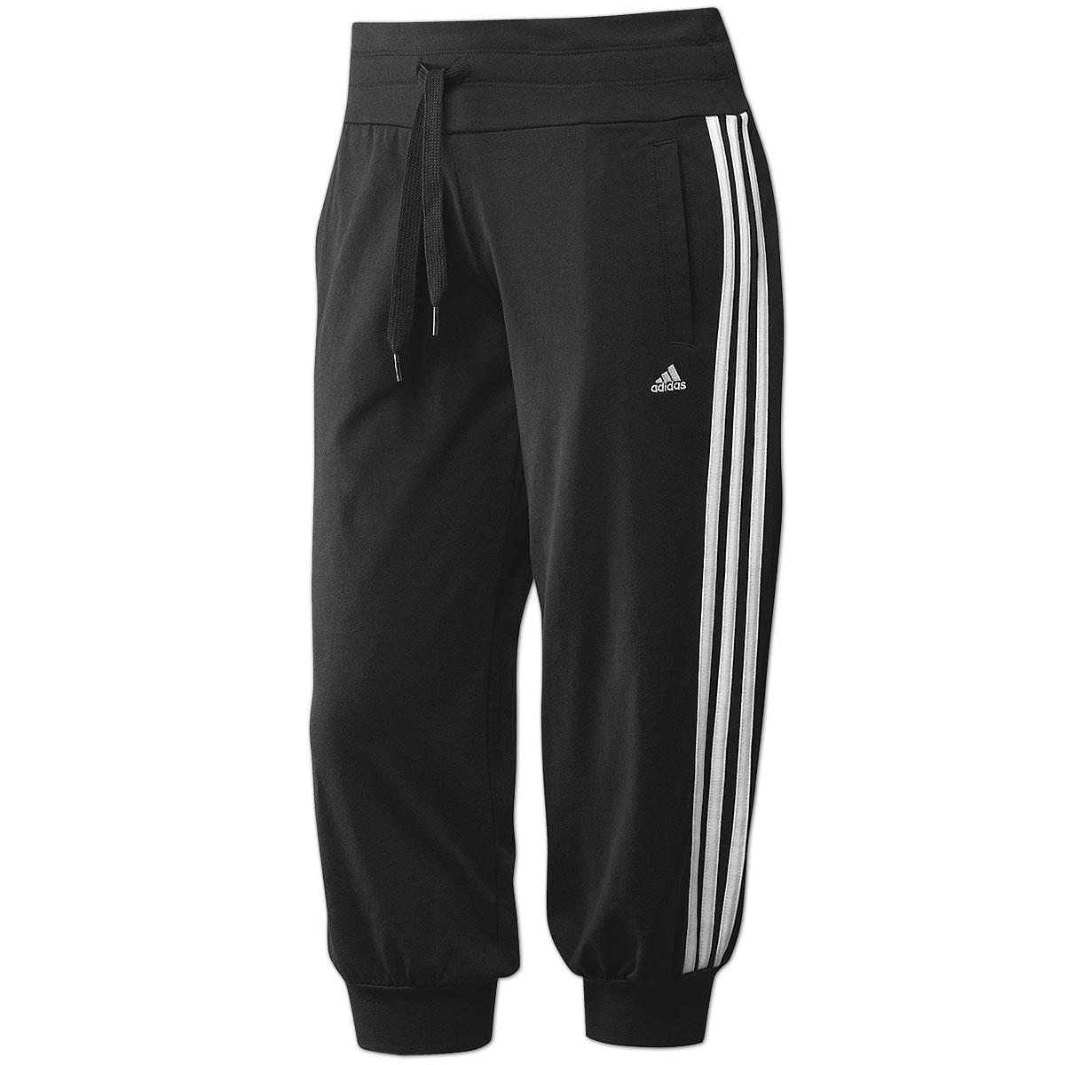Adidas Damen 3//4 Hose Trainingshose Sport Pumphose CC Modern Capri Short schwarz