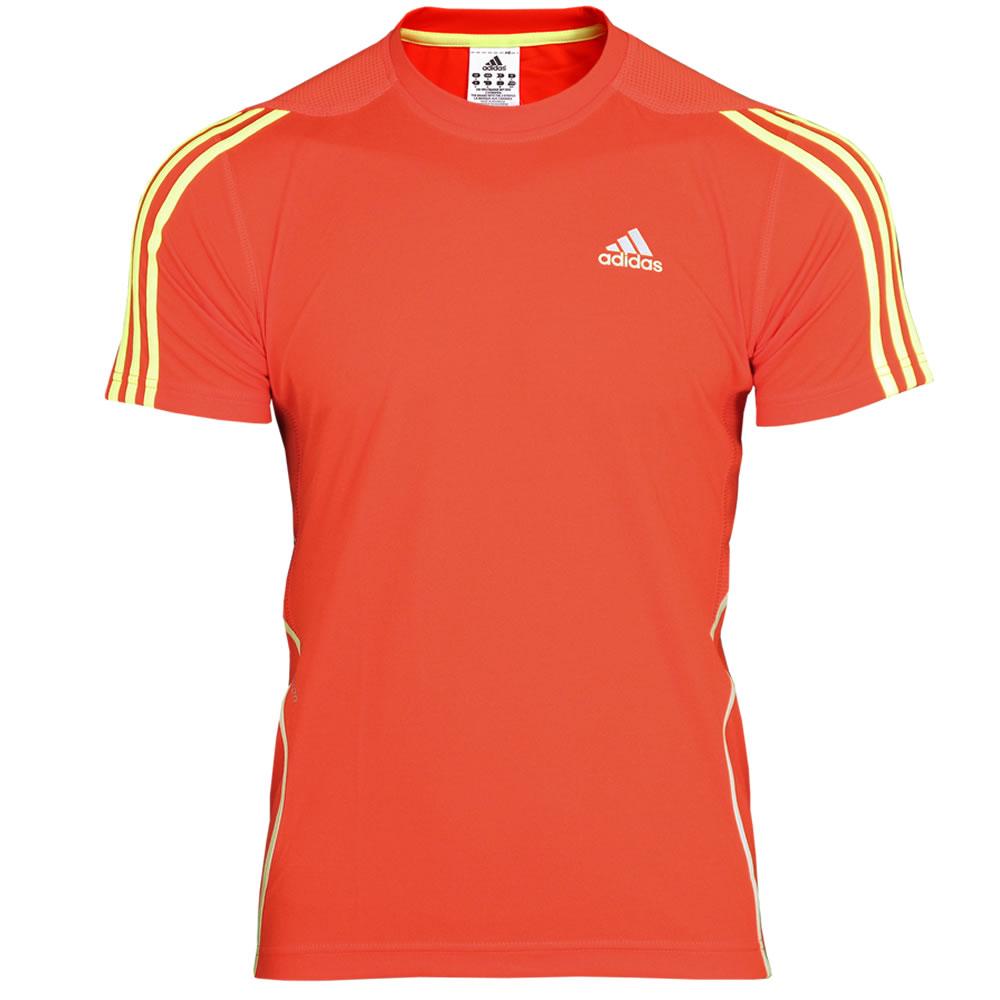 0b25801a2155 ADIDAS Shirt Response DS Laufshirt  XS-XL  Running Shirt Climalite  orange-gelb